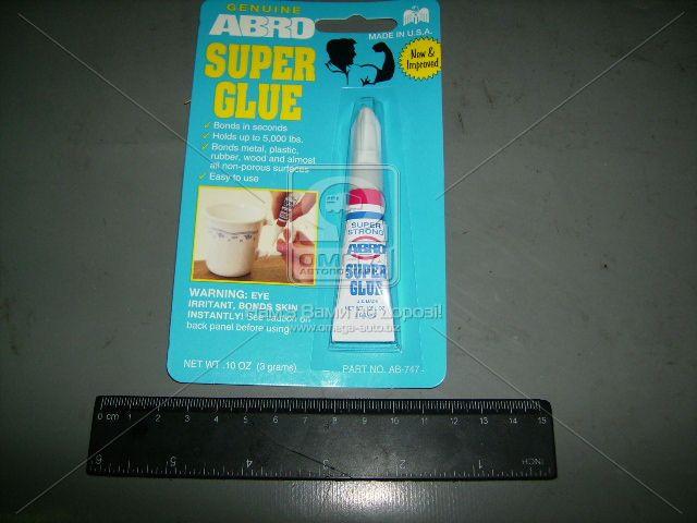 Клей суперклей 3гр ABRO (арт. SG-747)