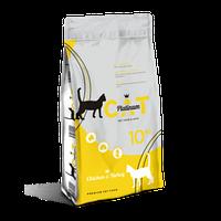 Сухой корм для кошек PLATINUM CAT с курицей и индейкой, 10 кг