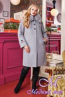 Теплое женское зимнее пальто большого размера (р. 48-58) арт. 1054 Тон 104