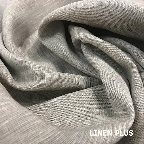 Сіра лляна тканина 100% бавовна, колір 330