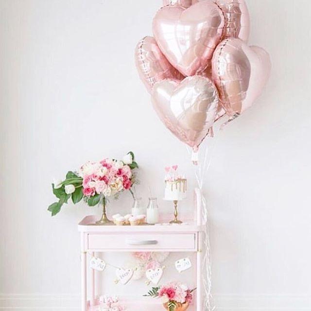 Шар фольгированный сердце 44 см розовое золото
