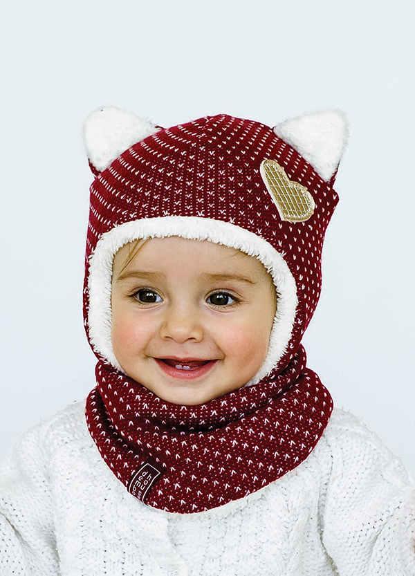 Детская зимняя шапка (набор) для девочек СИНДИ оптом размер 42-44-46