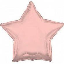 Шар фольгированный звезда 46 см розовое золото