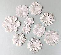 """Набор цветов """"белое ассорти"""" 10 шт."""