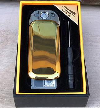 Зажигалка USB-сенсор (черная/золото)