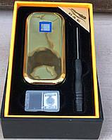 Зажигалка USB-сенсор (черная/золото), фото 2