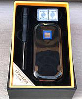Зажигалка USB-сенсор (черная/золото), фото 3