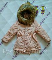 Зимняя куртка для девочки (еврозима). Тм Glo story (р.104 - р.110)