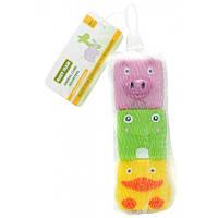 Набор игрушек для ванны Кубики-зверьки 3 шт., Baby team