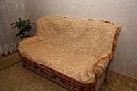 """""""Лаура"""" бежевого цвета комплект покрывала (дивандеки) на диван и кресла"""