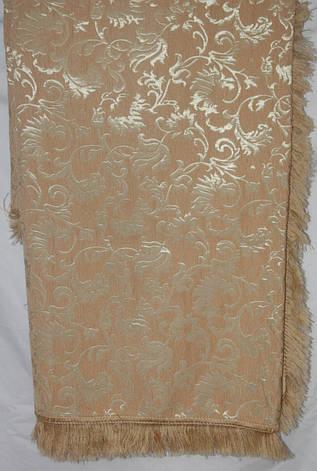 Лаура цвета персик комплект покрывала (дивандеки) на диван и кресла, фото 2