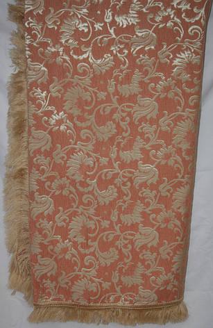 Лаура цвета терракот комплект покрывала (дивандеки) на диван и кресла, фото 2