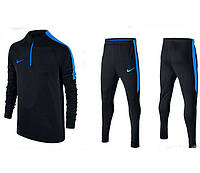 Тренировочный костюм Nike Strike 2017 black/blue, фото 1