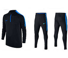 Тренировочный костюм Nike Strike 2017 black/blue