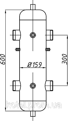 Схема гидроуравнивателя Termojet СК-28 с теплоизоляцией