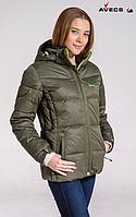 Женская лыжная куртка Avecs silver mustard, фото 1