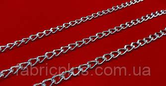 Цепь  декоративная  10*7 мм  никель