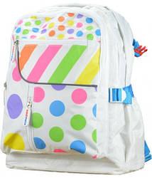 Рюкзак детский KiddiMoto цветной горошек, большой, 5+ лет