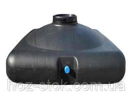 Емкость ТМ Пласт Бак 150л для душа черная штуцер+лейка