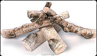 Керамические дрова GLOBMETAL береза к биокаминам