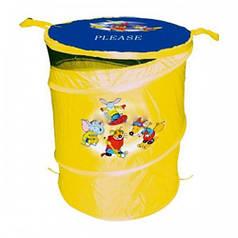 Корзина для игрушек Бочка, желтая, Devik Play Joy TO303A