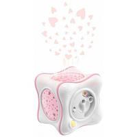 Ночник-проектор Радуга Cube розовый, Chicco