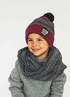 Детская шапка (набор) ТИЛБЕРГ для мальчиков оптом р. 50/ 52, фото 1