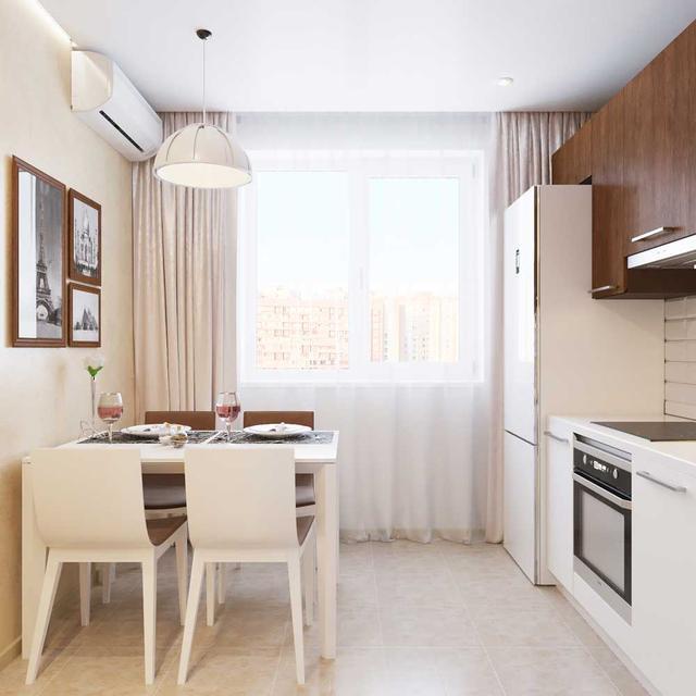 белый тюль для кухни