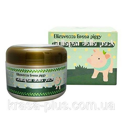 Корейская коллагеновая маска для лица Elizavecca Green Piggy Collagen Jella Pack