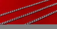 Цепь №1,0  декор. №М288  граненная  5*3 мм  серебро