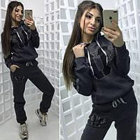 Женский теплый спортивный костюм кофта и штаны БАТАЛ, фото 1