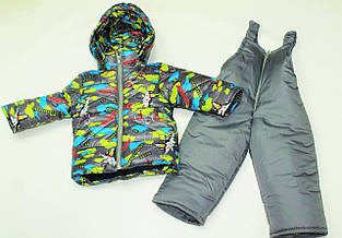 Детский зимний костюм двойка Самолетики