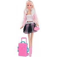 Путешествие, набор с куклой 28 см., блондинка в розовой кофте, Ася