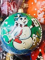 Елочные Новогодние Шары 9 см Украшение на Елку с Рисунком Новогоднее Настроение в Наборе 6 шт