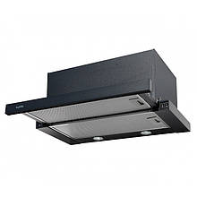 Вытяжка для кухни черная телескопическая VENTOLUX GARDA 60 BK (1100) SMD LED