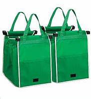 Сумка для покупок в супермаркетеGrab Bag Snap-on-Cart Shopping Bag - 2 шт., 1001556, сумка для покупок, складная сумка для покупок, сумка складная,