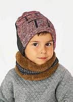 Детская шапка (набор) ЯН для мальчиков оптом р. 48-50-52