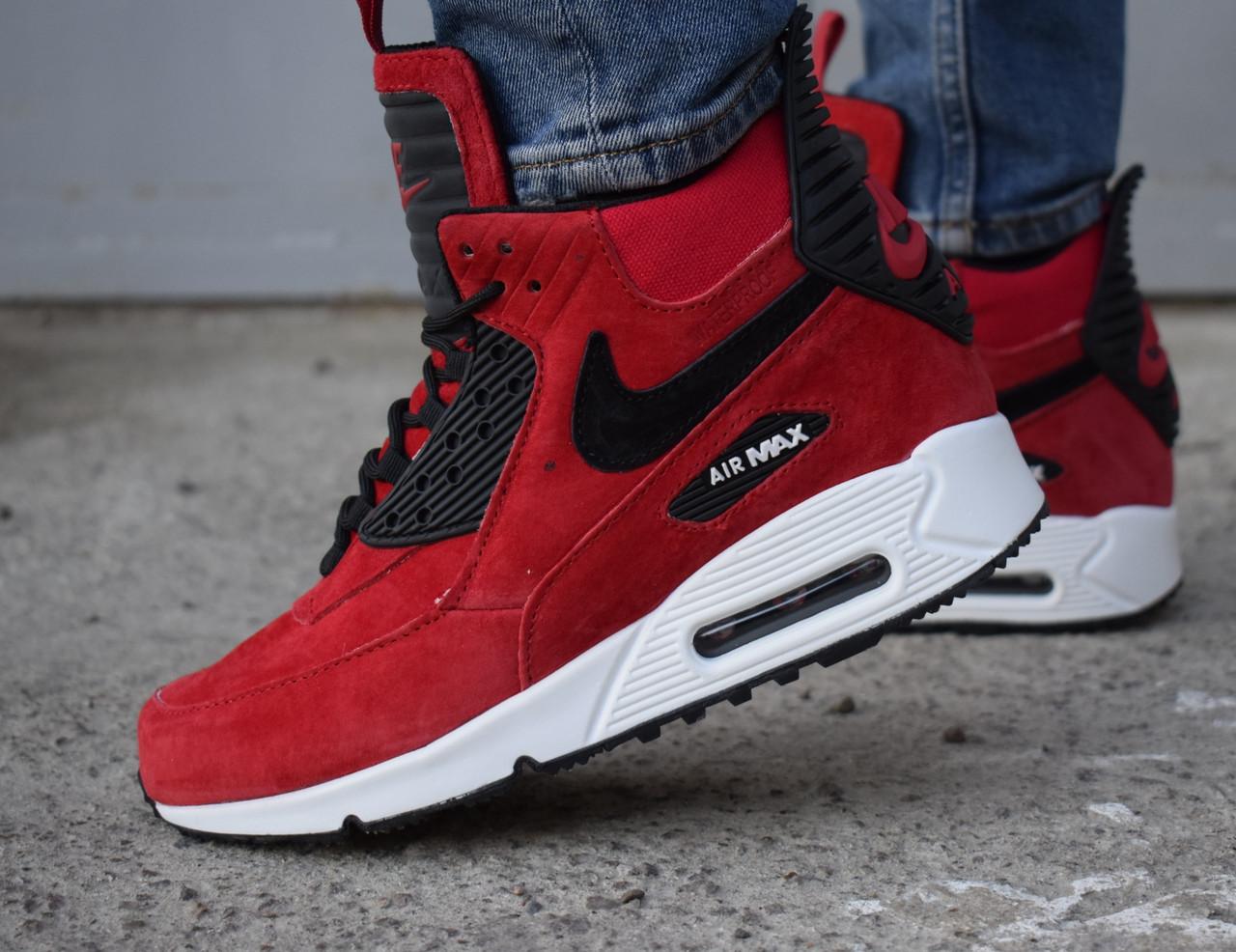 1d711e949ca169 Кроссовки мужские зимние Nike Air Max 90 Sneakerboot красные купить ...