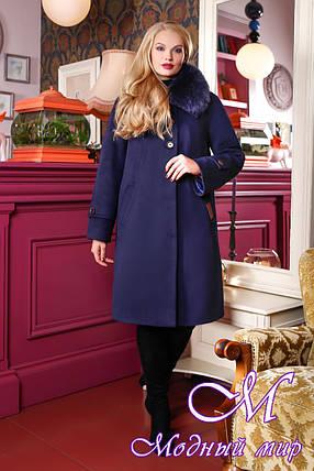 Женское кашемировое зимнее пальто батал (р. 48-58) арт. 1054 Тон 5, фото 2