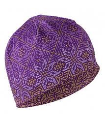 Шапка утепленная Sugoi Snowflake MidZero Ponytail Tuke purple