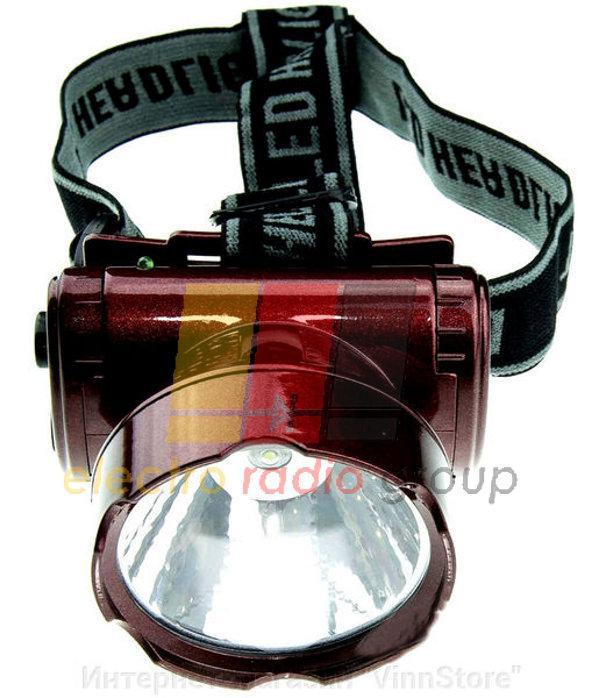 Аккумуляторный налобный фонарь 1 LED YJ-1898-1