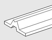 Опора вала L-1800mm, под вал диаметра 20мм