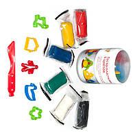 Тесто-пластилин 6 цветов, 6 пакетиков по 50 г, Genio Kids (TA1065V)