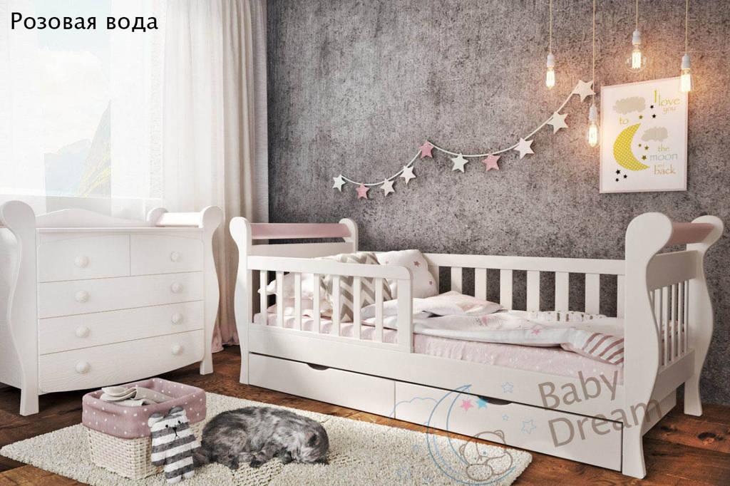 Детская кровать от 3 лет с бортиками для девочки Miss Secret