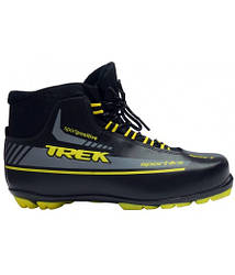 Ботинки лыжные TREK Sportiks NNN ИК размер 42, черный, лого желтый