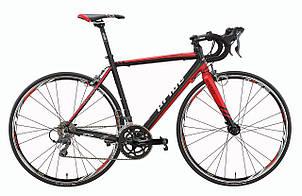 Велосипед 28'' PRIDE ROCKET CLARIS V-br черно-красный 2016