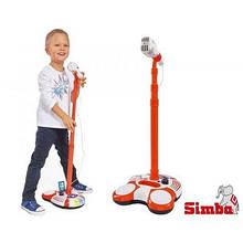Детский микрофон Simba на стойке с MP3