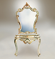Specchiera Veneziana Dorata cm 95x07x130