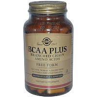 Solgar, BCAA Plus в свободной форме (100 капсул)