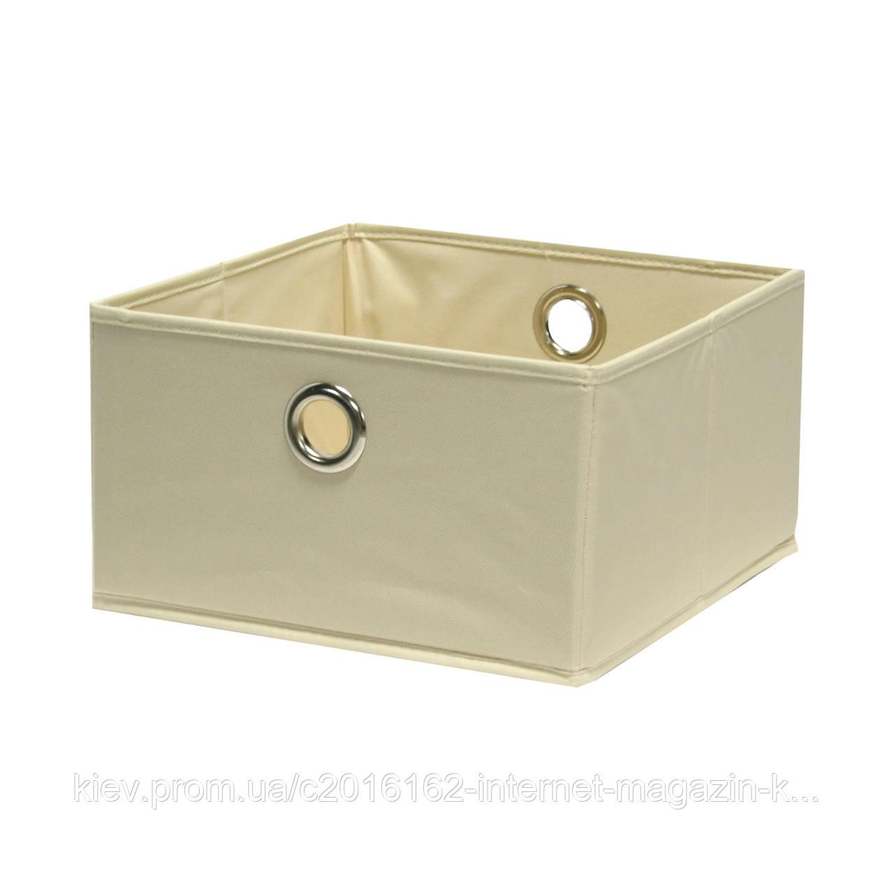 Корзина для белья Home4You Basket 30x30xH17cm  beige